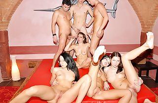 Shocking trainer DP soiree coitus instalment