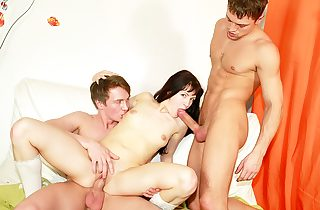 Ultra-kinky school student screwing at B-day party