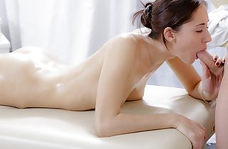 XXX rubdown video of cute dark haired plumbed in the butt