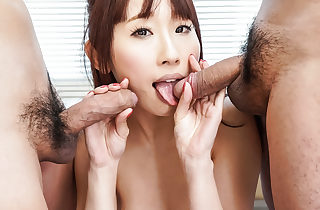 Triune sex in the matter of Mr Big sprog Yui Misaki