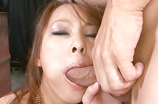 Crestfallen Asuka gobbles a fixed sculpture with the addition of is fucked fixed doggie-style